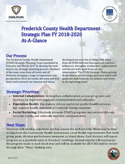 FCHD Strategic Plan FY 2018-2020 at-a-glance Opens in new window